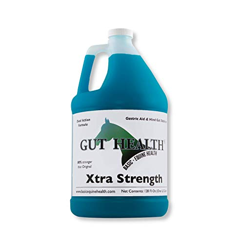 - Gut Health Horse Feed Supplement - Xtra Strength Top Dress (1 Gallon) - Ulcer Aid for Horses That Promotes Improved Mood, Coat, Hoof Growth, and Weight Gain