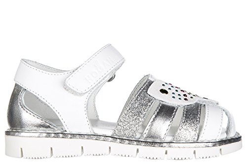 Hogan Girls Sandals Baby Child Leather j326 White US Size 8 HXT3260Y020GAA4782 by Hogan