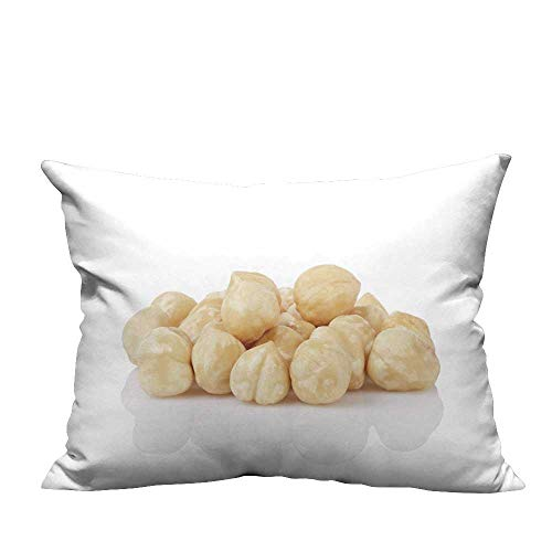 YouXianHome Print Bed Pillowcases heap Peele Hazelnuts Isolate Washable and Hypoallergenic(Double-Sided Printing) 19.5x26 ()