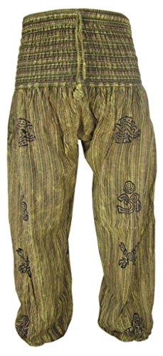 Little Kathmandu High Elastic Waist Stonewashed Symbols Casual Lounge Trousers K