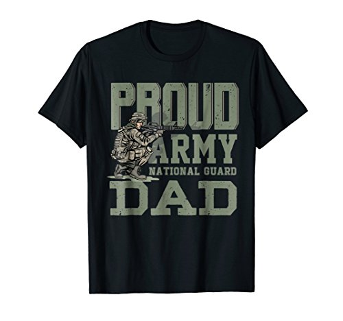 (Proud Army National Guard Dad TShirt USA Patriotism Fathers)