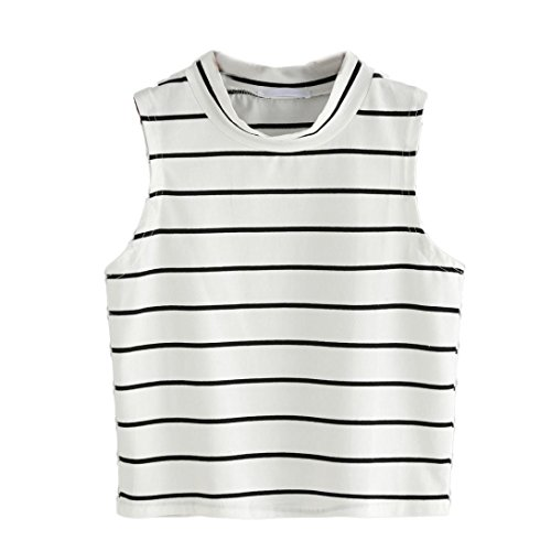 Striped Dog Tank (Women Fashion Sexy T-Shirt Striped Tank Sleeveless Tops by TOPUNDER)