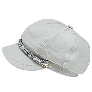 Women Girls Autumn Octagonal Hats Solid Color Casual Visor Berets Hat Retro Newsboy Flat Cap