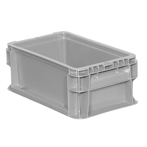 Buckhorn SW120705F101000 Plastic Straight Wall Tote Storage Container, 12″ x 7″ x 5″, Light Grey
