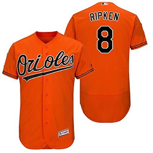 (Genuine Stuff Cal Ripken Jr. Baltimore Orioles MLB Majestic Youth Boys 8-20 Orange Alternate Cool Base Replica Jersey (Youth Small)