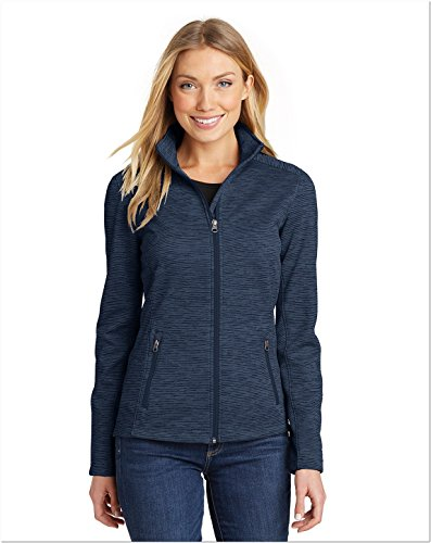 - Port Authority Ladies Digi Stripe Fleece Jacket, Navy, XX-Large