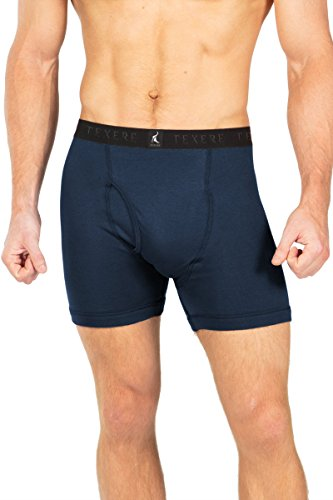 Men's Athletic Boxer Brief - Single Pack Luxury Underwear for Men by Texere