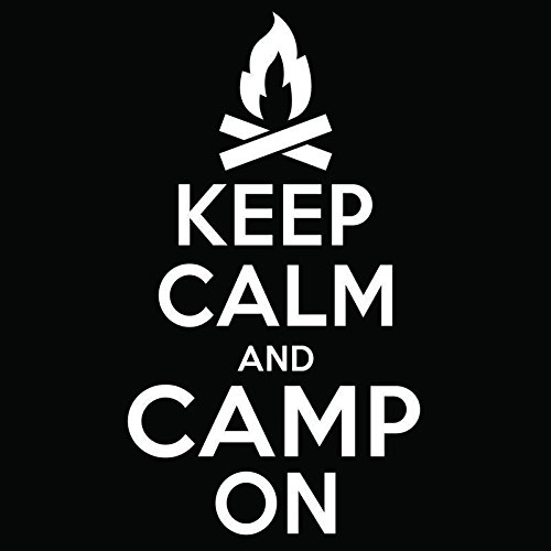 Keep Calm Camp onとビニールデカールステッカー| Cars Trucks Vans Windowsノートパソコン壁カップ|ホワイト| 5.5 X 3インチ| kcd1841   B076JK6C1V