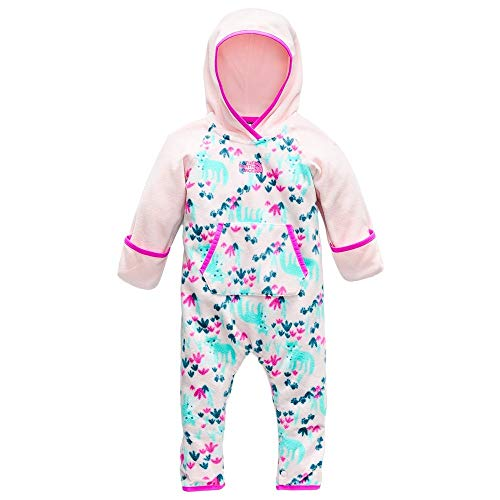 Face Poly (The North Face Infant Glacier One Piece - Purdy Pink Fox Floral Print - 6M)