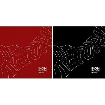 IKON [RETURN] 2nd Album 2 Ver SET+Poster+Photobook+Lyrics+Card+Photofilm+Sticker+Tracking Number SEALED