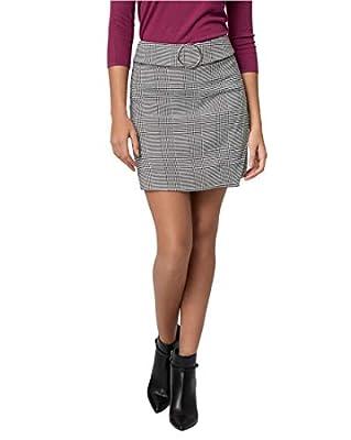 LE CHÂTEAU Check Print Viscose Blend Mini Skirt