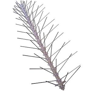 Bird-X Stainless Steel Bird Spikes Narrow, Covers 50 feet