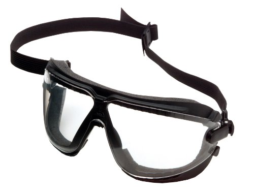 3M  16617 Gogglegear Standard Bridge Safety Goggles with Strap, Medium Clear Lens