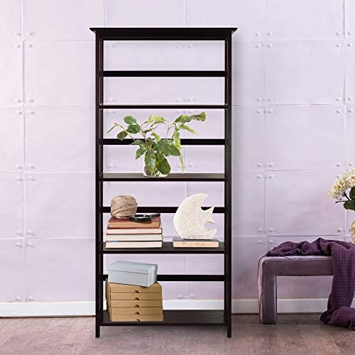 home, kitchen, furniture, home office furniture,  bookcases 3 discount Casual Home Mission Style 5-Shelf Bookcase, Espresso promotion