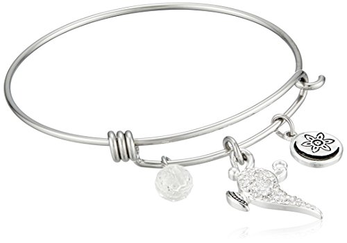 Disney Stainless Steel Catch Bangle with Silver Plated Cr...
