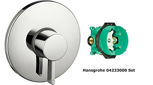 Hansgrohe 04233000, S Pressure Balance Trim With iBox Universal Plus Rough In Valve with Service Stop,Chrome