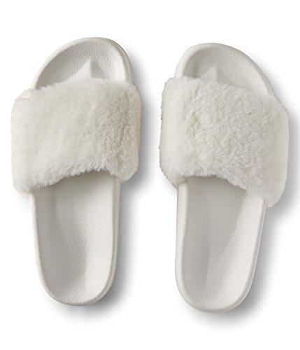 Sandalo Scorrevole In Ecopelle Aerostatica Bianco Candeggina