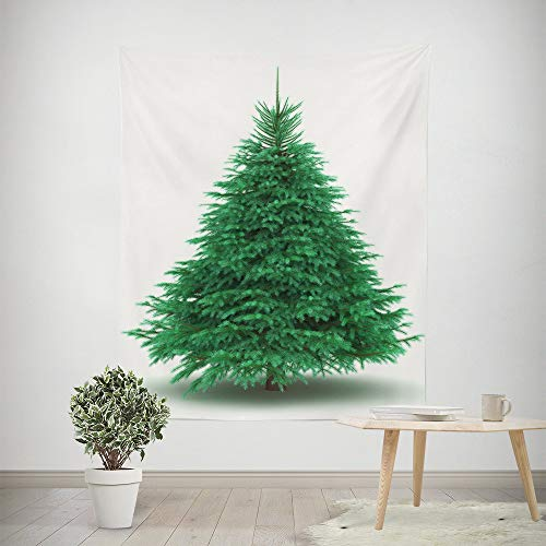 - HP95 Christmas Pine Tree Tapestry|Polyester Fabric Wall Decor for Bedroom Decor for Xmas Festival Party Home Decoration 59.1