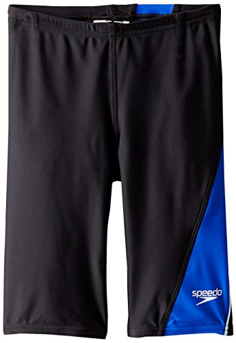 Speedo Big Boys' PowerFLEX Eco Revolve Splice Jammer Swimsuit, Blue, (Speedo Boys Swimsuit)