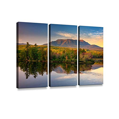 (Katahdin at Sunset II3 Pieces Print On Canvas Wall Artwork Modern Photography Home Decor Unique Pattern Stretched and Framed 3)