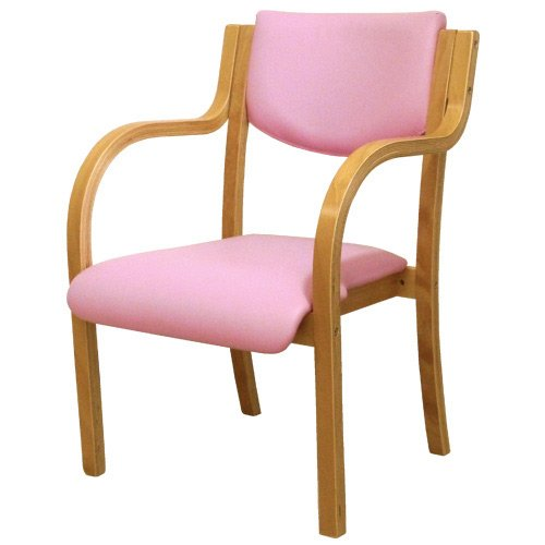 ダイニングチェア 完成品 木製 椅子 ダイニングチェアー スタッキングチェア 肘付 LDCH-1-S (ピンク) B014QQD1B8 ピンク ピンク