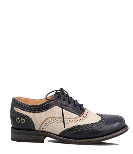 Bed|Stu Women's Lita Leather Oxford (10 M US, Navy Rustic Nectar Lux)
