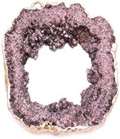KENG Natural Al por Mayor de la Piedra Natural Cristal de Colores Irregular DIY for el Collar o joyería Que Hace Accesorio de la joyería (Metal Color : Brown)