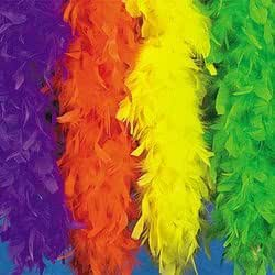 Neon Orange Feather Boa (6 Pcs) - Bulk [Toy]