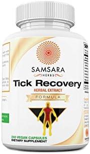 Samsara Herbs Tick Recovery Herbal Formula Capsules – Japanese Knotweed, Cat s Claw, SIDA Acuda, Houttuynia Cordata, Stevia 240 Capsules