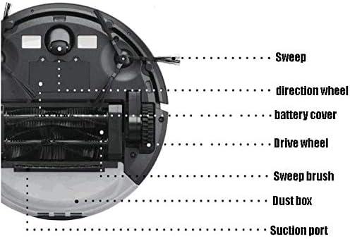 WANGXIAO Aspirateur Robot,Vadrouille à Forte Aspiration 1300pa Modes Nettoyage Multiples Super Silencieux Mouvement Libre Recharge Automatique Les Tapis.