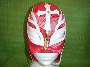 rojo - Máscara de lucha Rey Mysterio WWE Disfraz Disfraz Cosplay Rayos Nuevo Mexicano Lucha Libre