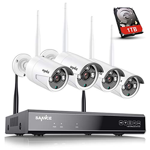 Sannce 1080p Surveillance Wifi Nvr And 4pcs 720p Wireless