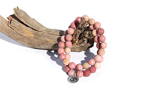 MeruBeads Small Size - Faceted Rhodonite Wrap Bracelet for Women - Rhodonite Bracelet - Rhodonite Faceted Bracelet for Women