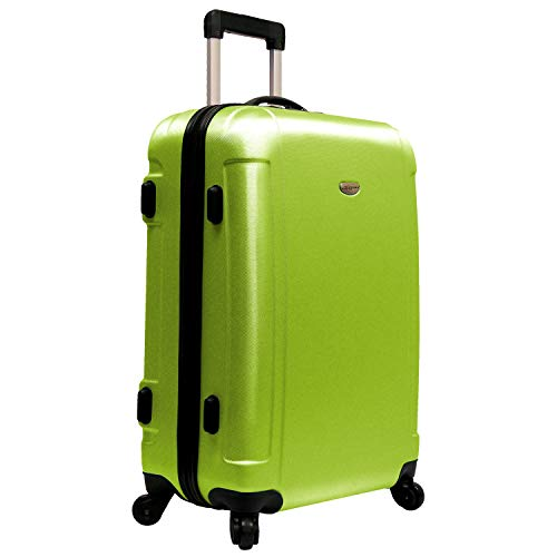 "Traveler's Choice – FREEDOM 25"" Lightweight Hard-shell Spinner Upright in Apple Green"