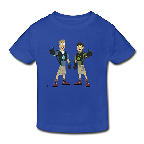 KNOT Geek Wild Kratts Kratts Brother2 Kids Toddler T Shirt RoyalBlue US Size 5-6 - Roanoke Kids