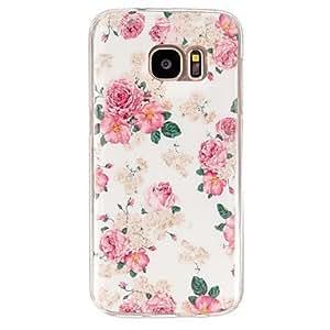 Modelo de flor de la caja del teléfono de la PU estuche blando para Samsung Galaxy S4 / S5 / S6 / S6 borde + / s7 ( Color : Multicolores , Modelos Compatibles : Galaxy S7 )