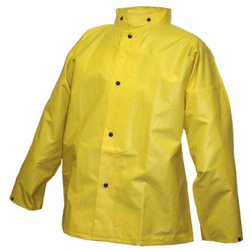 Tingley Rubber J56207 Dura Scrim Jacket with Hood Snaps, Medium, Yellow - Ignition Jacket