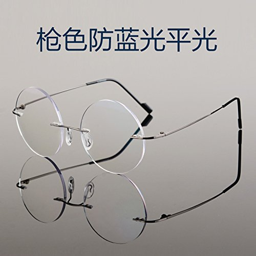 KOMNY cara Small plano Gun redondas pequeño la terminada gafas Color gafas negro contra de equipo y anti azul reborde marco radiaciones TV gafas las rTrqwf4