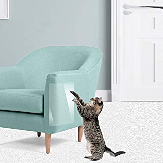 "WeTest Self-Adhesive Clear Flexible Vinyl Cat Scratching Guard for Furniture,4-Pack,17.7"" L X 12"" W"