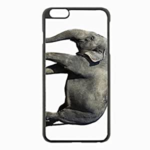 iPhone 6 Plus Black Hardshell Case 5.5inch - elephant background large Desin Images Protector Back Cover