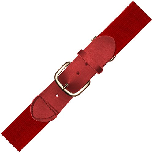 (Joe's USA Baseball/Softball Uniform Belts - All Colors and Sizes (Adult, Cardinal))