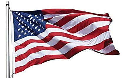 12x18 FT US AMERICAN NYLON FLAG WITH 6 ROWS OF STITCHING AND REINFORCED CORNERS