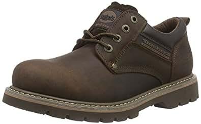Dockers 23DA005 - Zapatos de cordones de cuero para hombre, color marrón (cafe 320), talla 40