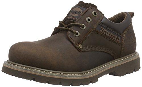 Marrón para Cuero de Zapatos 23DA005 Cordones Dockers Hombre 320 Cafe de WgORxaHgwq