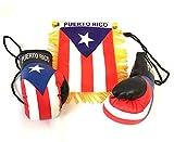 Puerto Rico, Boricua, Puerto Rican style, 2pc Boricua Hookup, Puerto Rico Car Flags, Boxing glove , Puerto rico car flag