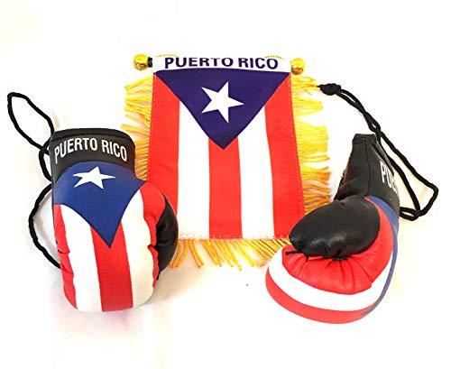 Puerto Rico Flag Car - Puerto Rico, Boricua, Puerto Rican style, 2pc Boricua Hookup, Puerto Rico Car Flags, Boxing glove , Puerto rico car flag