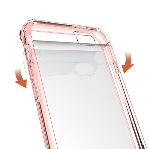 """iPhone 6s Hülle, HICASER PC + TPU Hybrid Bumper Case Schutzhülle Crystal Transparent kratzfeste Tasche für iPhone 6 / 6S 4.7"""" Rose Gold"""
