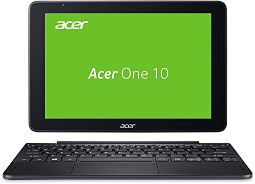 Acer One 10 (S1003-1298) 25,7 cm (10,1 Zoll HD IPS) Convertible Notebook (Intel Atom x5-Z8300, 2GB RAM, 32GB eMMC, Intel HD Graphics, Touchscreen, Win 10 Home) schwarz