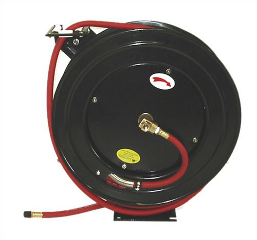 3/8-Inch 100 Feet 100ft Retractable Reel w/ Rubber Air Hose ()