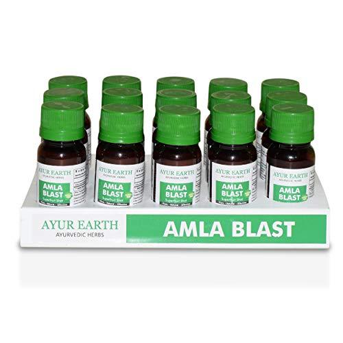 Amla Amalaki Superfood Supreme Shots 30000 Mg Highest Potency Available - Ayurveda Natural Formula - Liquids Work Faster Than Pills - Hair, Skin, Nail Health -Boost Immune System - Powder Replacement